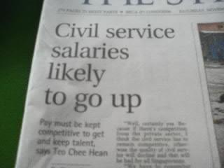 civil servants salaries up